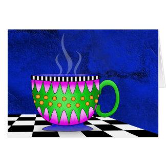 Cartão de nota do café