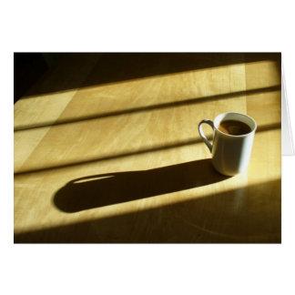 Cartão de nota do café do bom dia