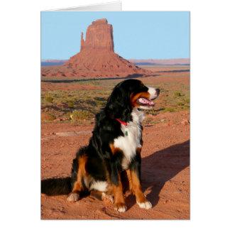 Cartão de nota do cão de filhote de cachorro do