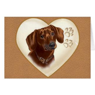 Cartão de nota do cão do Dachshund, obrigado cartõ