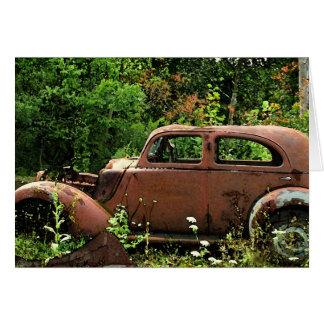 Cartão de nota do carro antigo