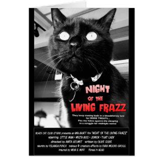 Cartão de nota do cartaz cinematográfico do gato