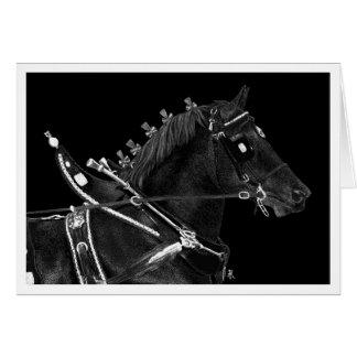 """Cartão de nota do cavalo de esboço - de """"poder"""