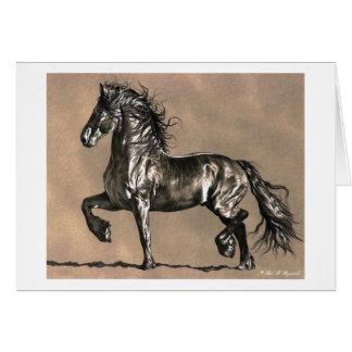 Cartão de nota do cavalo do frisão