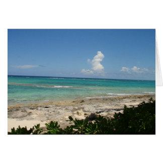 Cartão de nota do Cay de Bahamas, vazio