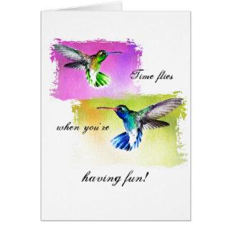 Cartão de nota do colibri