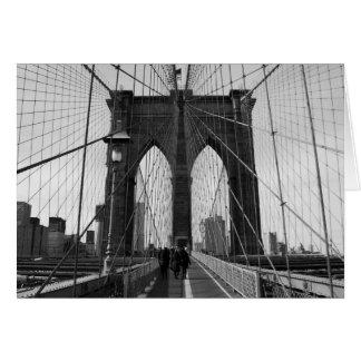 Cartão de nota do cruzamento da ponte de Brooklyn