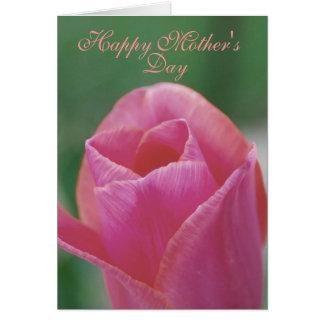 Cartão de nota do dia das mães - tulipa
