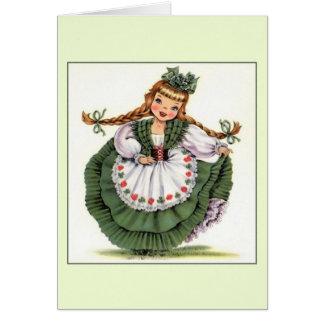 Cartão de nota do dia de Patrick de santo do