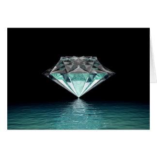 Cartão de nota do diamante do Aqua