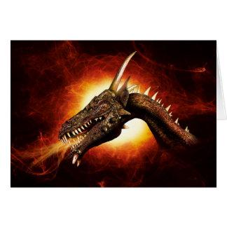 Cartão de nota do dragão do plasma