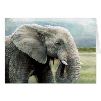 Cartão de nota do elefante africano