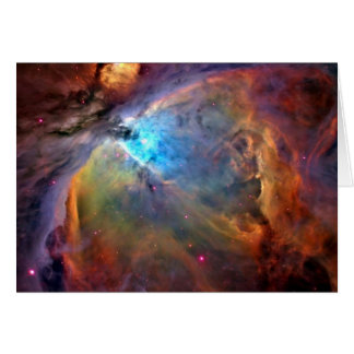 Cartão de nota do espaço da nebulosa de Orion