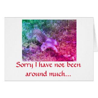 Cartão de nota do esquilo