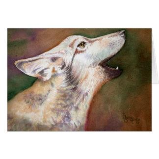 Cartão de nota do filhote de cachorro de lobo do
