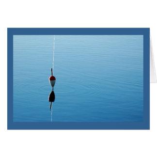 Cartão de nota do flutuador