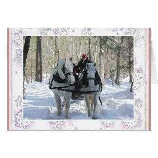 Cartão de nota do inverno de Vermont