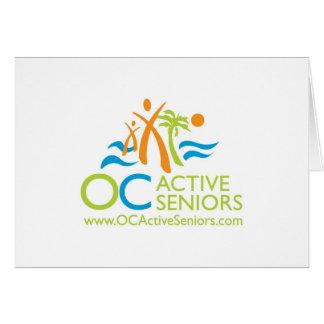 Cartão de nota do logotipo de OCActiveSeniors