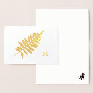 Cartão de nota do monograma da silhueta da
