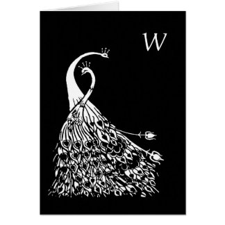 Cartão de nota do monograma de Nouveau da arte dos