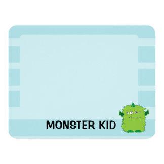 Cartão de nota do monstro convite 10.79 x 13.97cm
