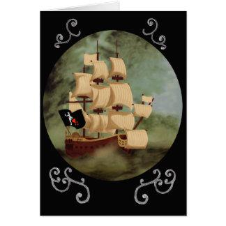 Cartão de nota do navio de Blackbeard (vingança da