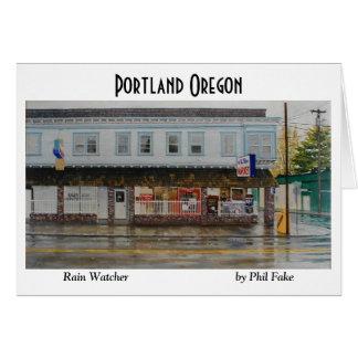 Cartão de nota do observador da chuva