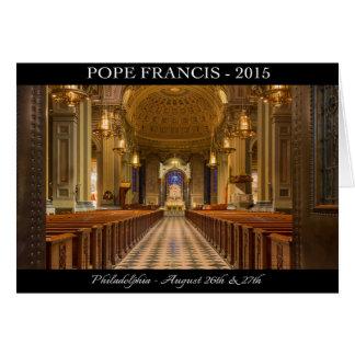 Cartão de nota do papa Francis Visita