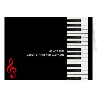 Cartão de nota do piano, Sr. e MrsGroom primeiro e