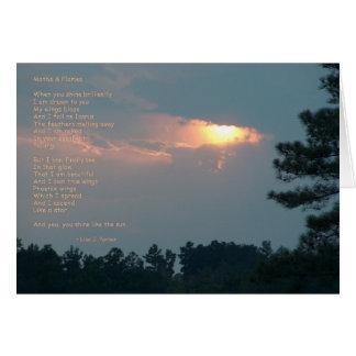 Cartão de nota do poema das traças & das chamas