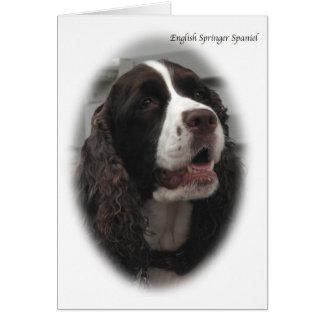Cartão de nota do Spaniel de Springer inglês