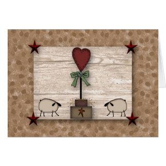 Cartão de nota do Topiary do coração