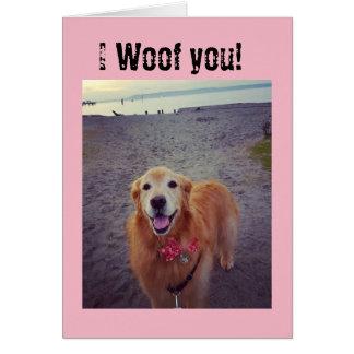 Cartão de nota do vazio do amor do cão