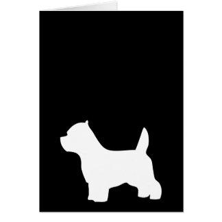 Cartão de nota do vazio do cão de Terrier branco
