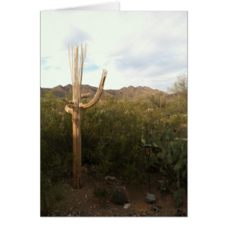 Cartão de nota do vazio do esqueleto do Saguaro