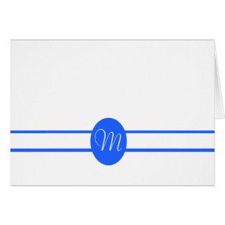 Cartão de nota dobro azul escuro elegante do vazio