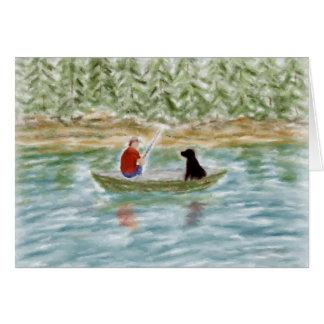 Cartão de nota dos amigos da pesca
