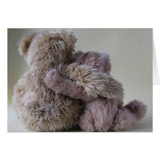 cartão de nota dos amigos do urso