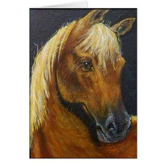 Cartão de nota dos cavalos