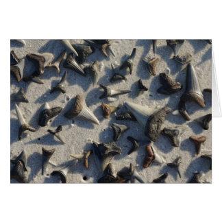 Cartão de nota dos dentes dos tubarões