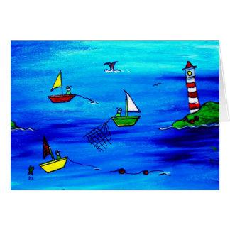 Cartão de nota dos pescadores