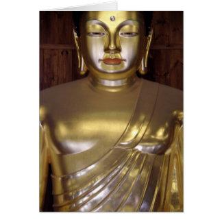 Cartão de nota dourado de Buddha