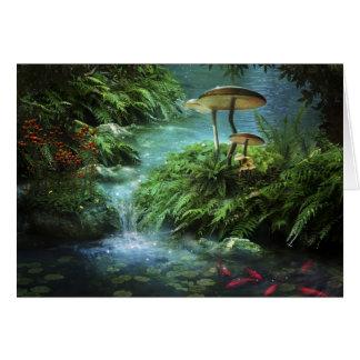 Cartão de nota Enchanted da lagoa