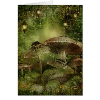 Cartão de nota Enchanted dos cogumelos