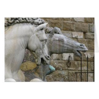 Cartão de nota equestre do vazio da estátua do