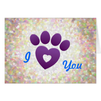 Cartão de nota - eu te amo apenas Estar-patas