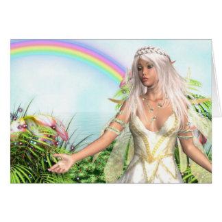 Cartão de nota feericamente do Titania