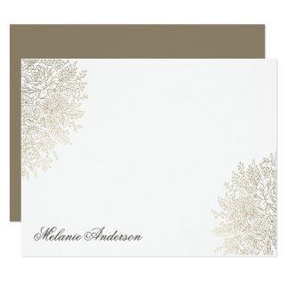 Cartão de nota feito sob encomenda elegante do