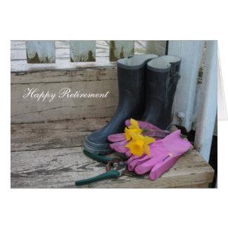 Cartão de nota feliz da aposentadoria