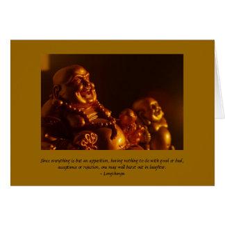 Cartão de nota feliz de Buddha